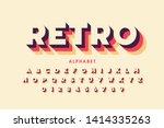 retro style font design ... | Shutterstock .eps vector #1414335263