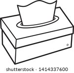 tissue box   cartoon vector and ... | Shutterstock .eps vector #1414337600