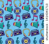 music megaphone boombox vinyl... | Shutterstock .eps vector #1414341713