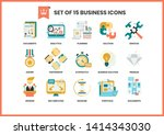business icons set for business ... | Shutterstock .eps vector #1414343030