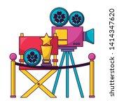 cinema movie projector chair...   Shutterstock .eps vector #1414347620