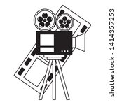 projector and film strip cinema ...   Shutterstock .eps vector #1414357253