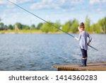 cute little child girl in... | Shutterstock . vector #1414360283