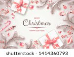 banner with christmas symbols... | Shutterstock .eps vector #1414360793