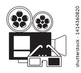 projector 3d glasses cinema...   Shutterstock .eps vector #1414360820