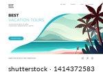 landing page template. modern... | Shutterstock .eps vector #1414372583