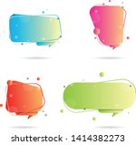 set of speech bubble with...   Shutterstock .eps vector #1414382273