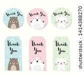 set of label tags with animals  ... | Shutterstock .eps vector #1414388270