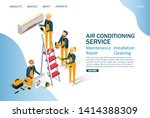 air conditioning service vector ...   Shutterstock .eps vector #1414388309