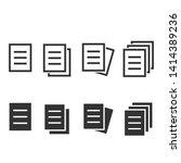document icon set. black vector ... | Shutterstock .eps vector #1414389236
