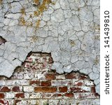 old brickwall covered cement... | Shutterstock . vector #141439810