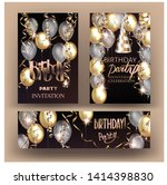 birthday party shiny banners... | Shutterstock .eps vector #1414398830