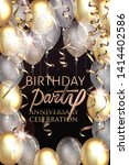 birthday party shiny banner... | Shutterstock .eps vector #1414402586