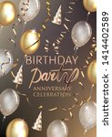 birthday party shiny banner... | Shutterstock .eps vector #1414402589
