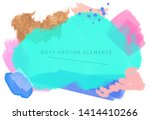 abstract teal colorful... | Shutterstock .eps vector #1414410266