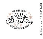 merry christmas greeting card... | Shutterstock .eps vector #1414411643