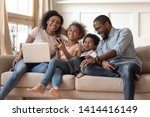 cheerful african parents and...   Shutterstock . vector #1414416149