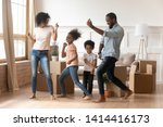happy african american parents... | Shutterstock . vector #1414416173
