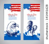 banners of 4th july backgrounds ... | Shutterstock .eps vector #141441628
