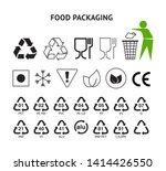food packaging symbols set...   Shutterstock .eps vector #1414426550