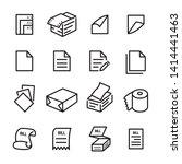paper line icon set. flat...   Shutterstock .eps vector #1414441463