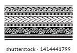 tribal pattern tattoo ... | Shutterstock .eps vector #1414441799