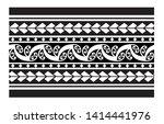 tribal pattern tattoo ... | Shutterstock .eps vector #1414441976