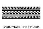polynesian band tattoo pattern  ... | Shutterstock .eps vector #1414442036