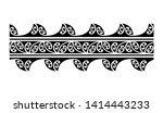 polynesian band pattern tattoo  ... | Shutterstock .eps vector #1414443233