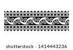 tribal pattern tattoo ... | Shutterstock .eps vector #1414443236