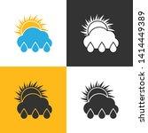 rain sunny day icon. set of... | Shutterstock .eps vector #1414449389