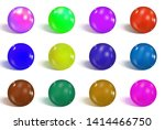 collection of colorful glossy...