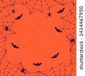 halloween spooky spiderweb...   Shutterstock .eps vector #1414467950