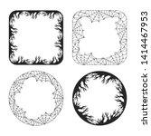 halloween creepy spiderweb and...   Shutterstock .eps vector #1414467953