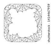halloween square spiderweb...   Shutterstock .eps vector #1414467959
