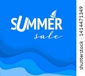 summer sale  vector discount...   Shutterstock .eps vector #1414471349