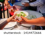 the concept of begging and... | Shutterstock . vector #1414472666