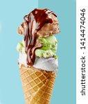 Various Ice Cream Balls With...