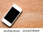 mobile phone with blank screen... | Shutterstock . vector #1414478969