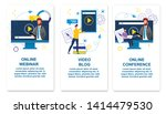 set online webinar  video blog  ... | Shutterstock .eps vector #1414479530