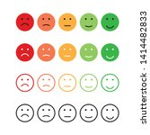 set emotions rating different... | Shutterstock .eps vector #1414482833