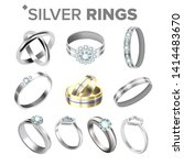 different bright silver... | Shutterstock .eps vector #1414483670
