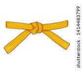 vector cartoon yellow karate...   Shutterstock .eps vector #1414483799