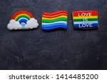 Rainbow cookies. desert with...