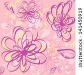seamless beauty floral | Shutterstock .eps vector #141450919