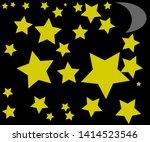 yellow stars on a black... | Shutterstock .eps vector #1414523546