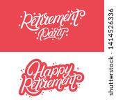 happy retirement and retirement ... | Shutterstock .eps vector #1414526336