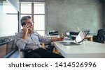 businessman on the phone... | Shutterstock . vector #1414526996