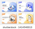 set of web pages. data... | Shutterstock .eps vector #1414540013