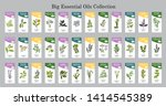 big set of essential oil labels....   Shutterstock .eps vector #1414545389